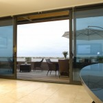 : double sliding glass doors design with patio door lock