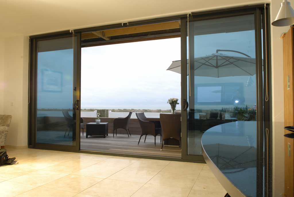 double sliding glass doors design with patio door lock