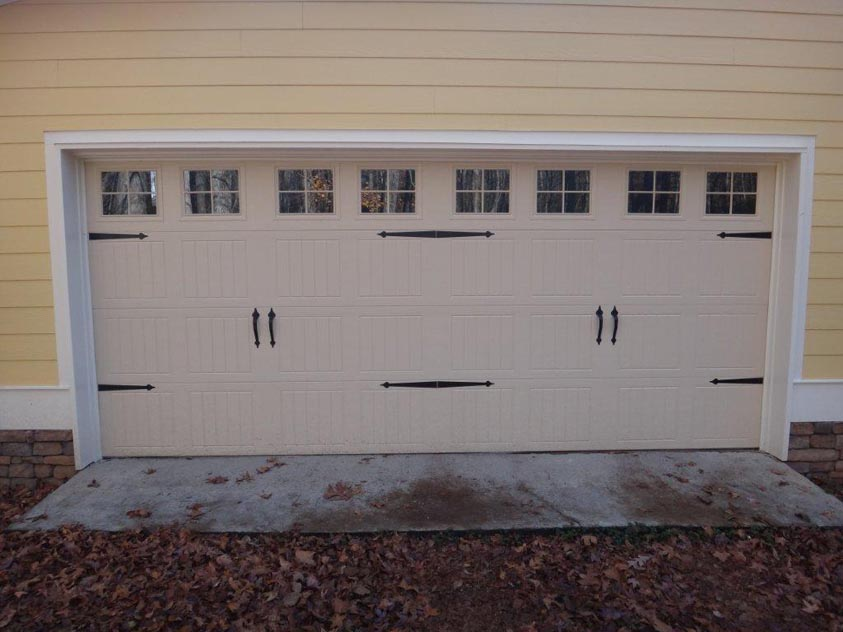 : insulated wood garage doors