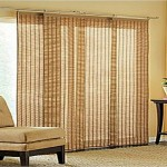 : sliding glass door for patio design with blinds