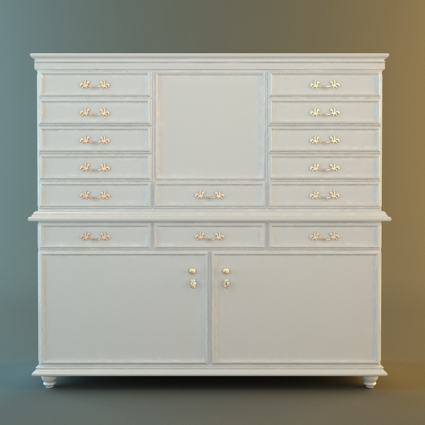 : storage cabinet with doors and shelves