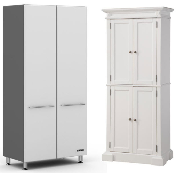 : storage cabinets with doors and shelves
