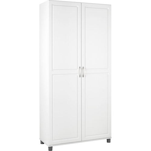 : tall storage cabinet with doors