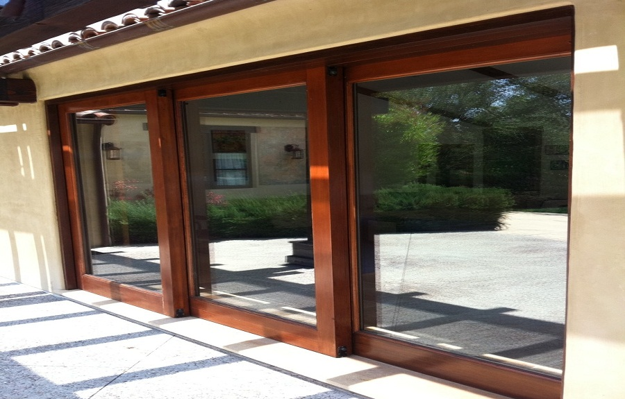 Sliding glass patio doors design ideas for Long sliding glass doors