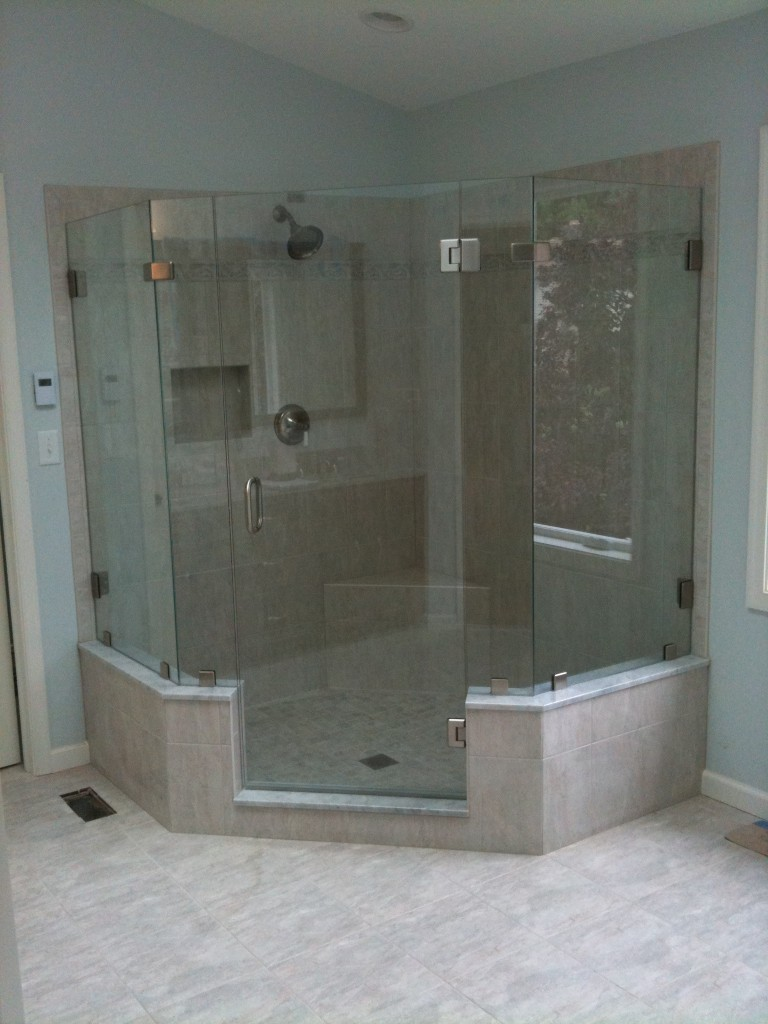 : rustic glass shower doors frameless shower room design ideas
