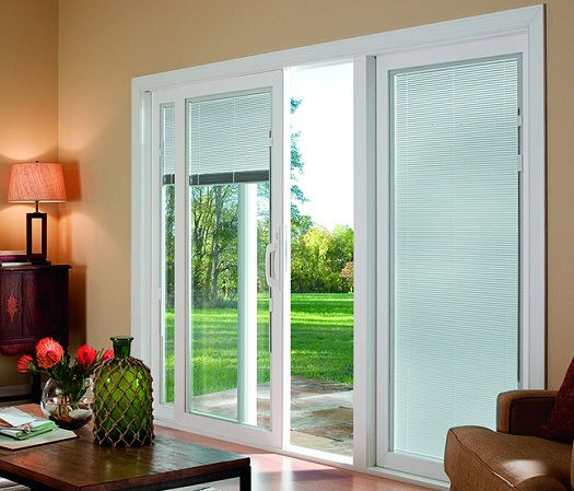 : contemporary window treatments for sliding glass doors