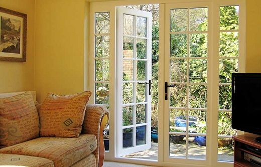: french patio doors with screens