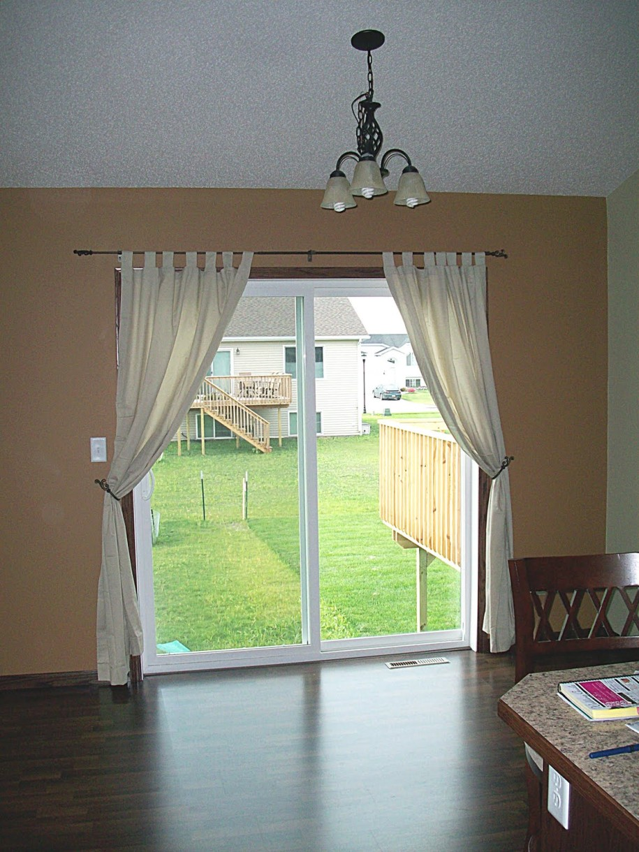 : modern window treatments for sliding glass doors
