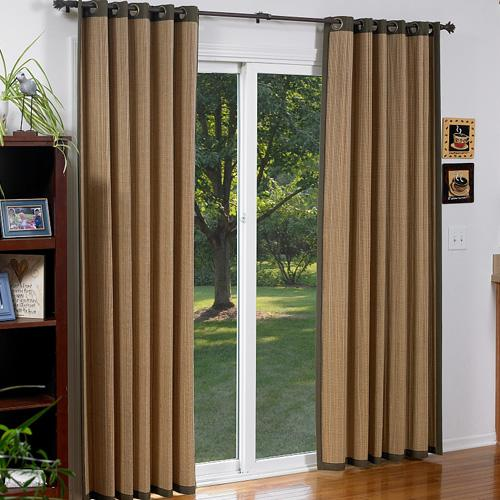 : sliding glass door window treatment options