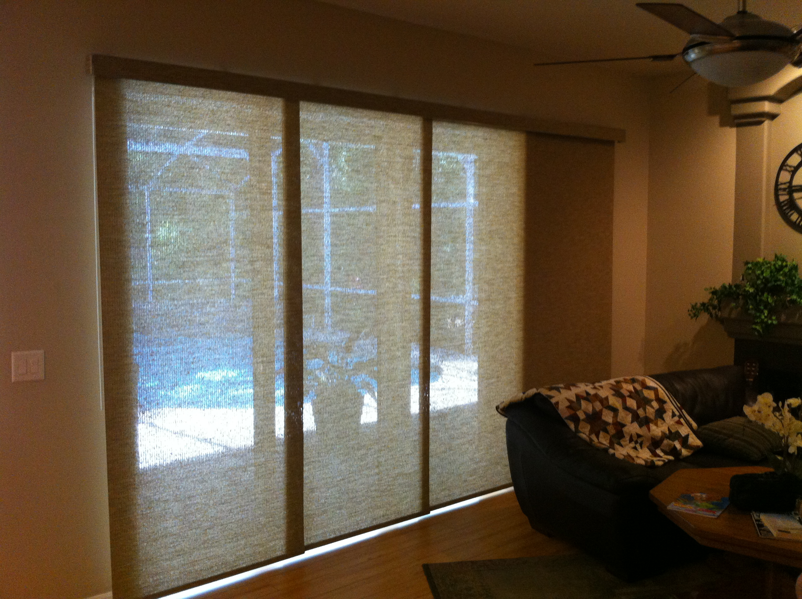 : sliding patio door window treatment ideas