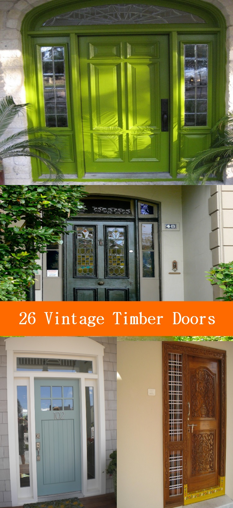 vintage timber doors ideas for front entryways