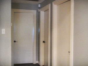 white glazed interior doors
