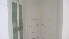 : white interior door with glass