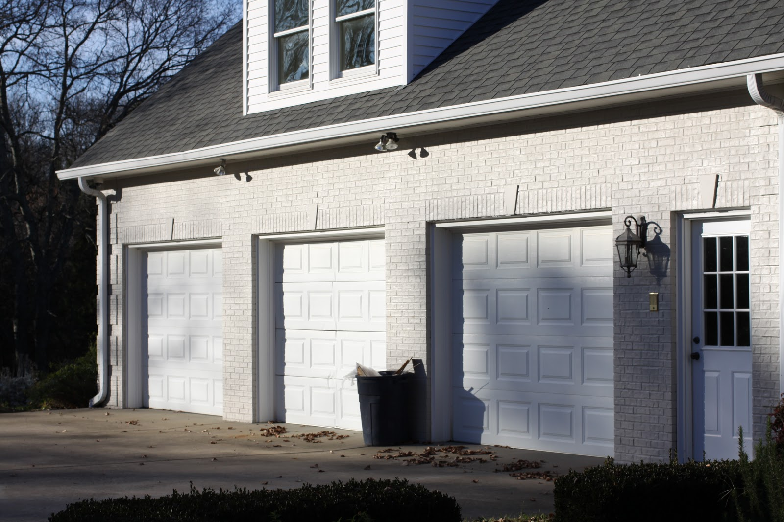 : white wooden garage doors easy installation