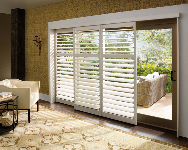: window treatments for sliding glass doors in dining room