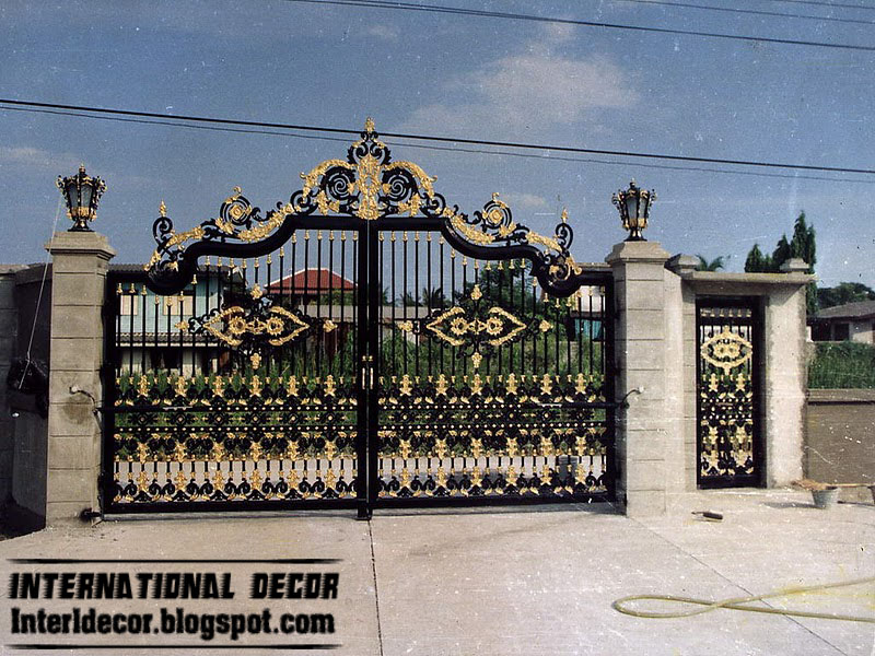 : custom wrought iron gates awesome driveway gate designs