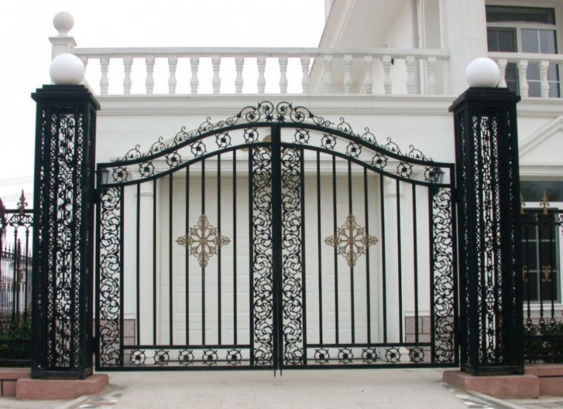 : decorative wrought iron gates awesome driveway gate designs