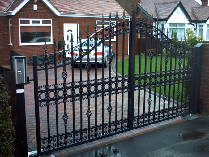 : designs for wrought iron gates awesome driveway gate designs