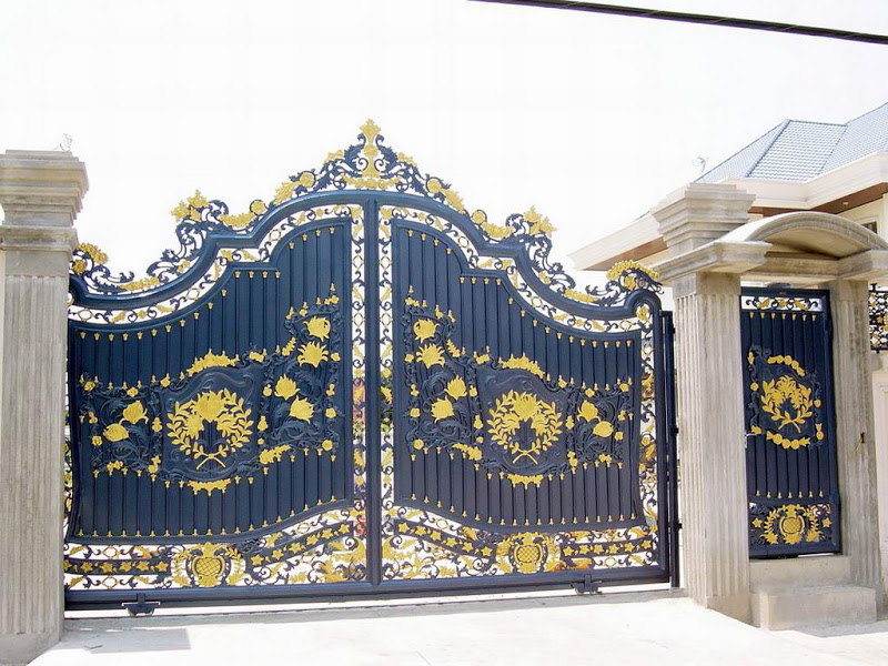 : wrought iron entrance gates stunning driveway gate ideas