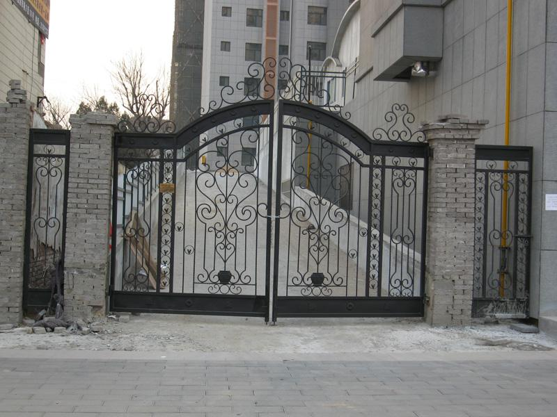 : wrought iron entry gates stunning driveway gate ideas