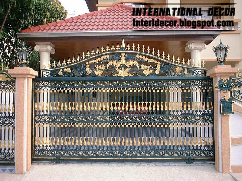 : wrought iron fence gates stunning driveway gate ideas