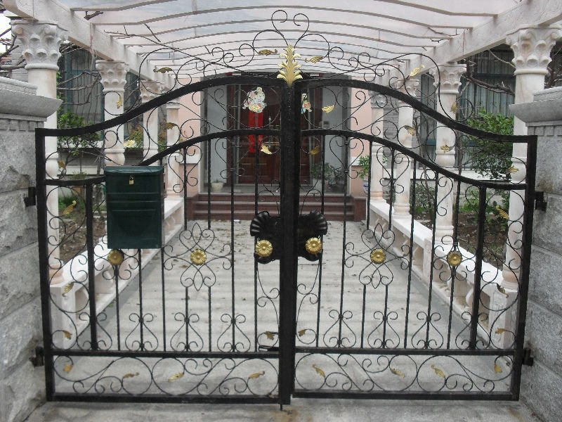 : wrought iron fences and gates beautiful design driveway gate hinges