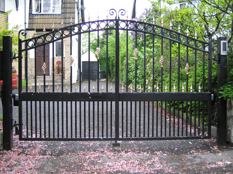 : wrought iron gates and fences contemporary design driveway gate ideas