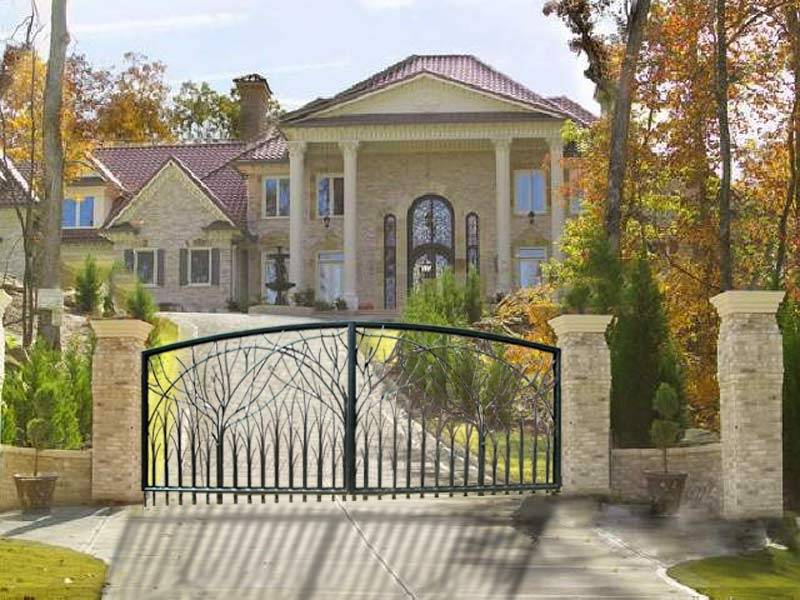 : wrought iron gates and fencing contemporary design driveway gate ideas
