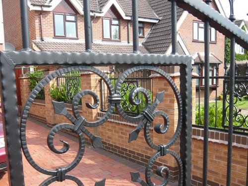 : wrought iron gates awesome driveway gate plans