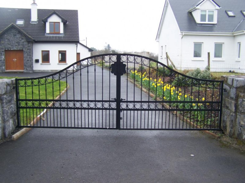 : wrought iron ornamental gates