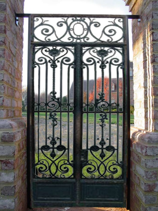 : wrought iron privacy gates