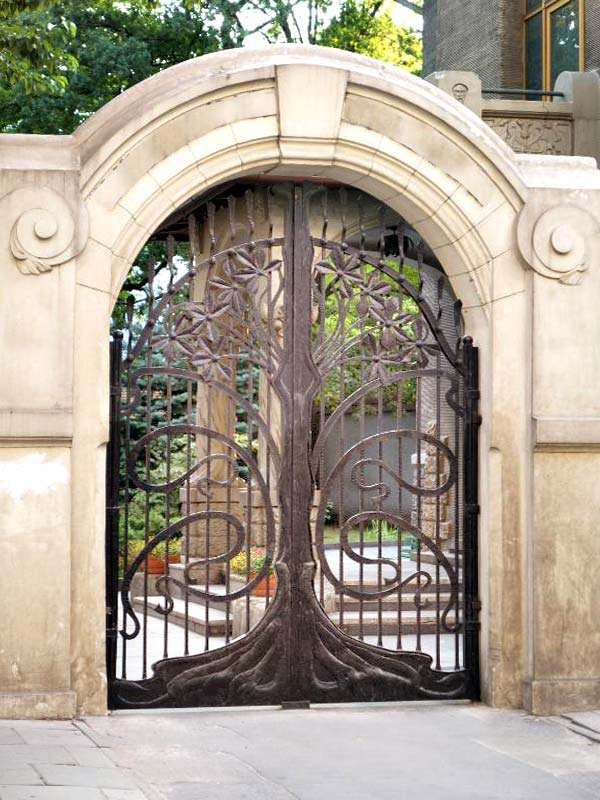 : wrought iron side gates