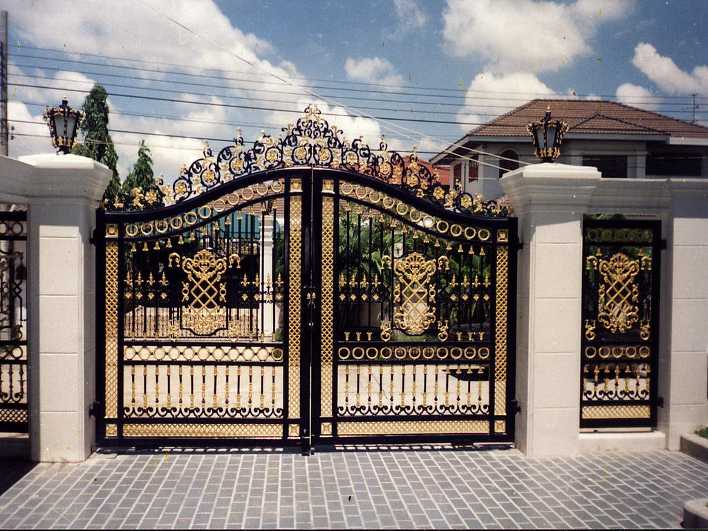 : decorative wrought iron gates