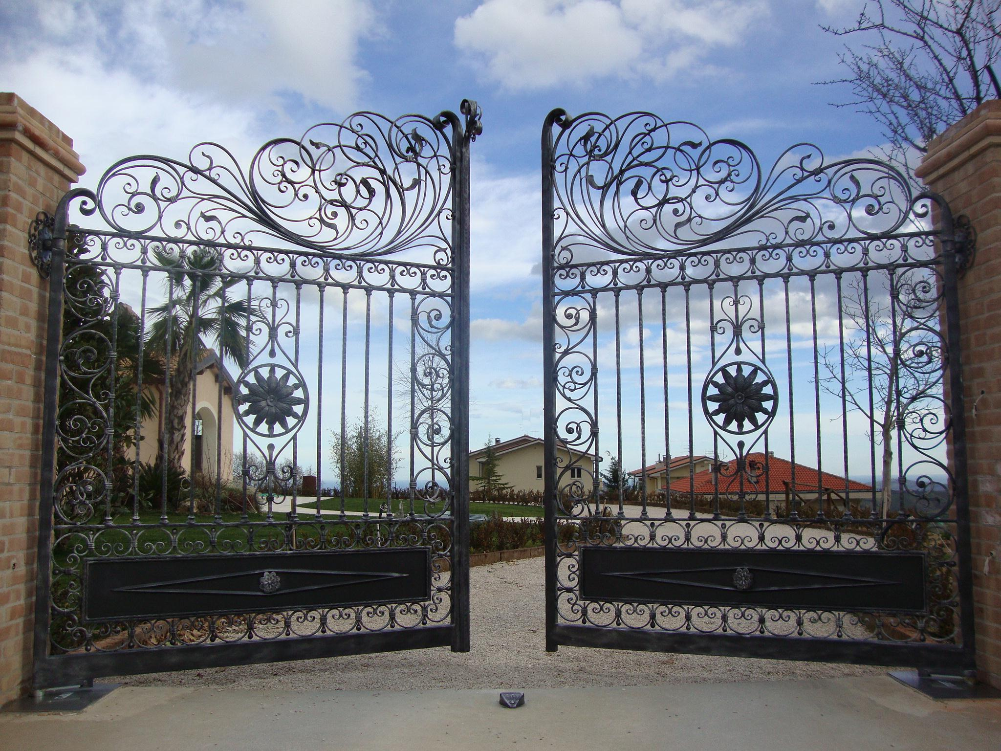 : unique rustic wrought iron gate designs