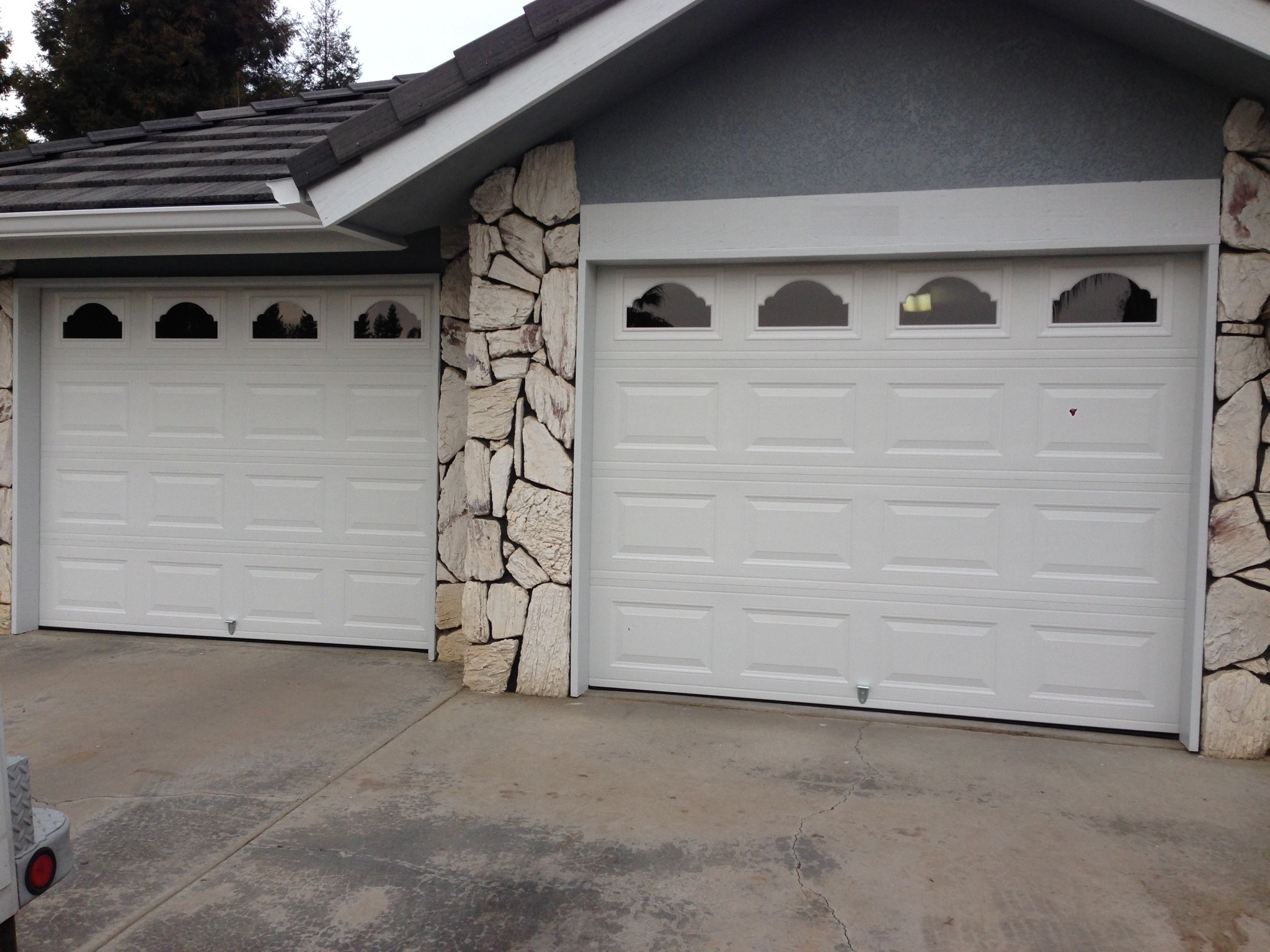 White Painted Roll Up Garage Doors