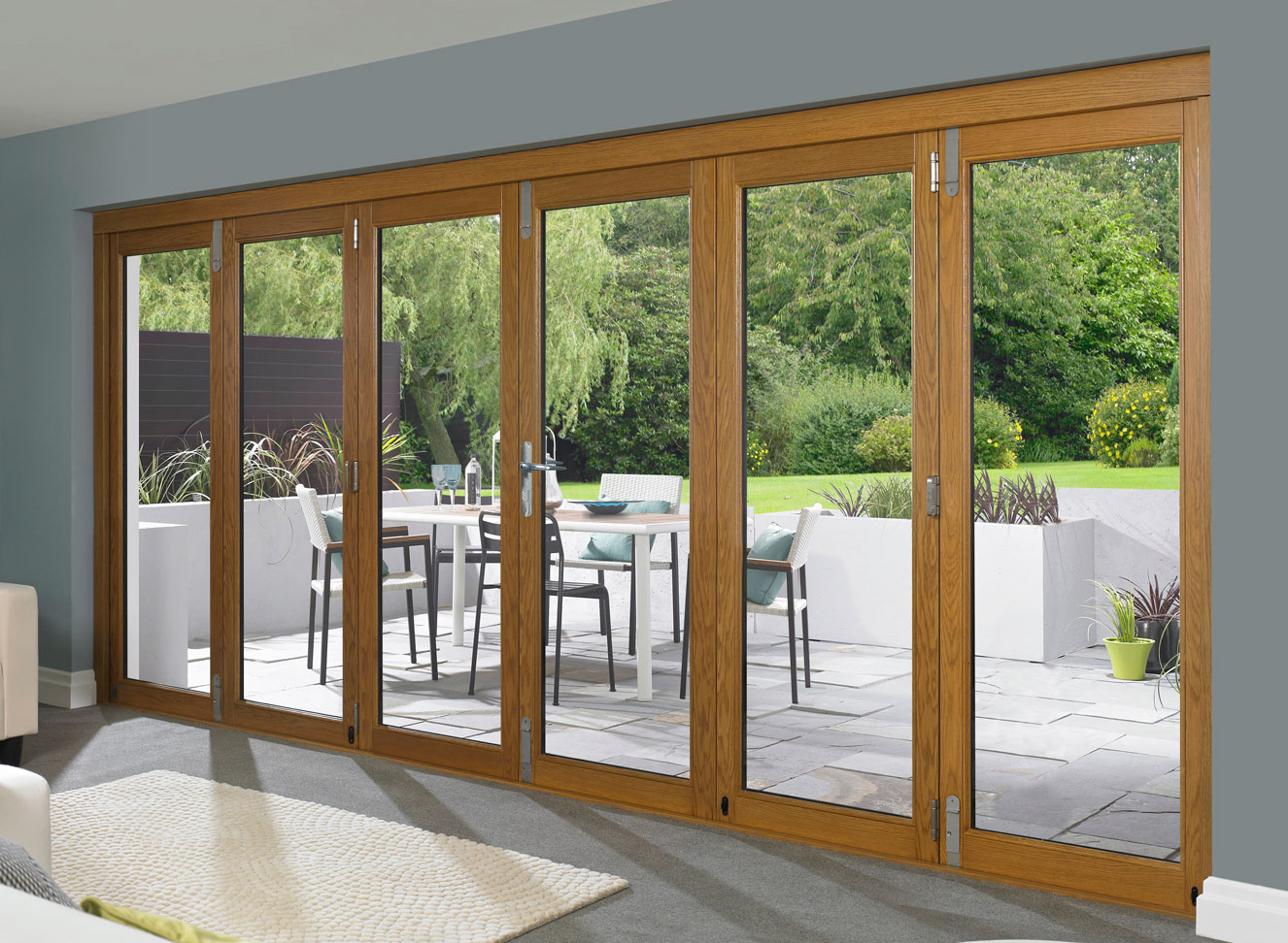 Bi folding patio doors designs options to beautify your for Patio door designs