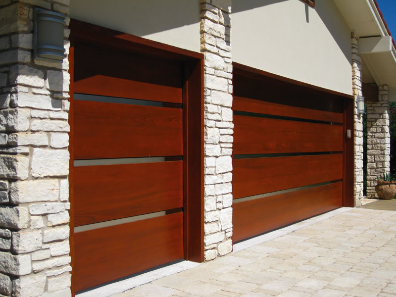 : mid century modern garage door ideas wooden