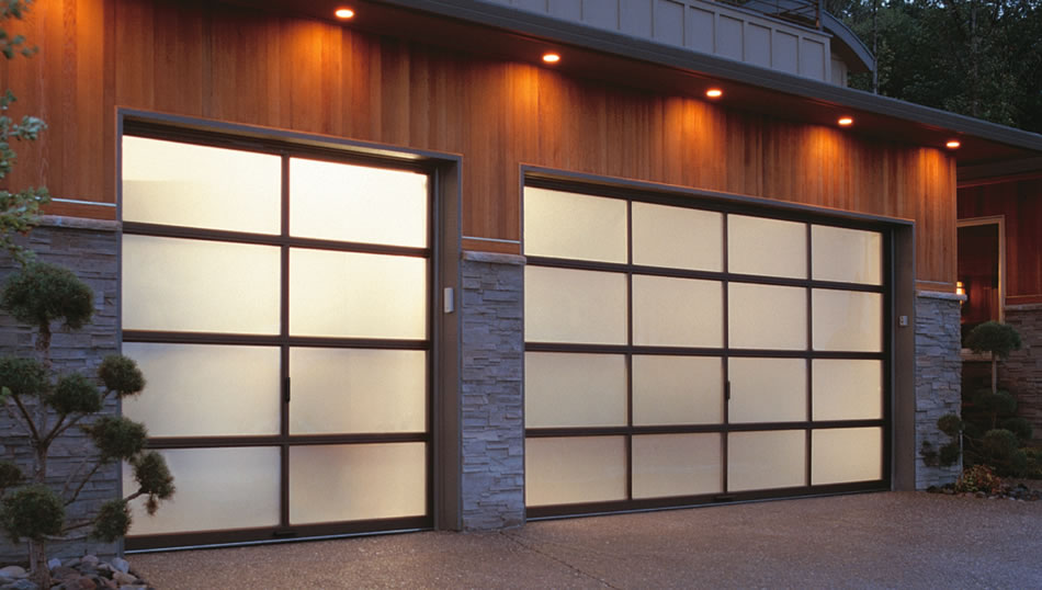 modern aluminum garage door for residential garage design