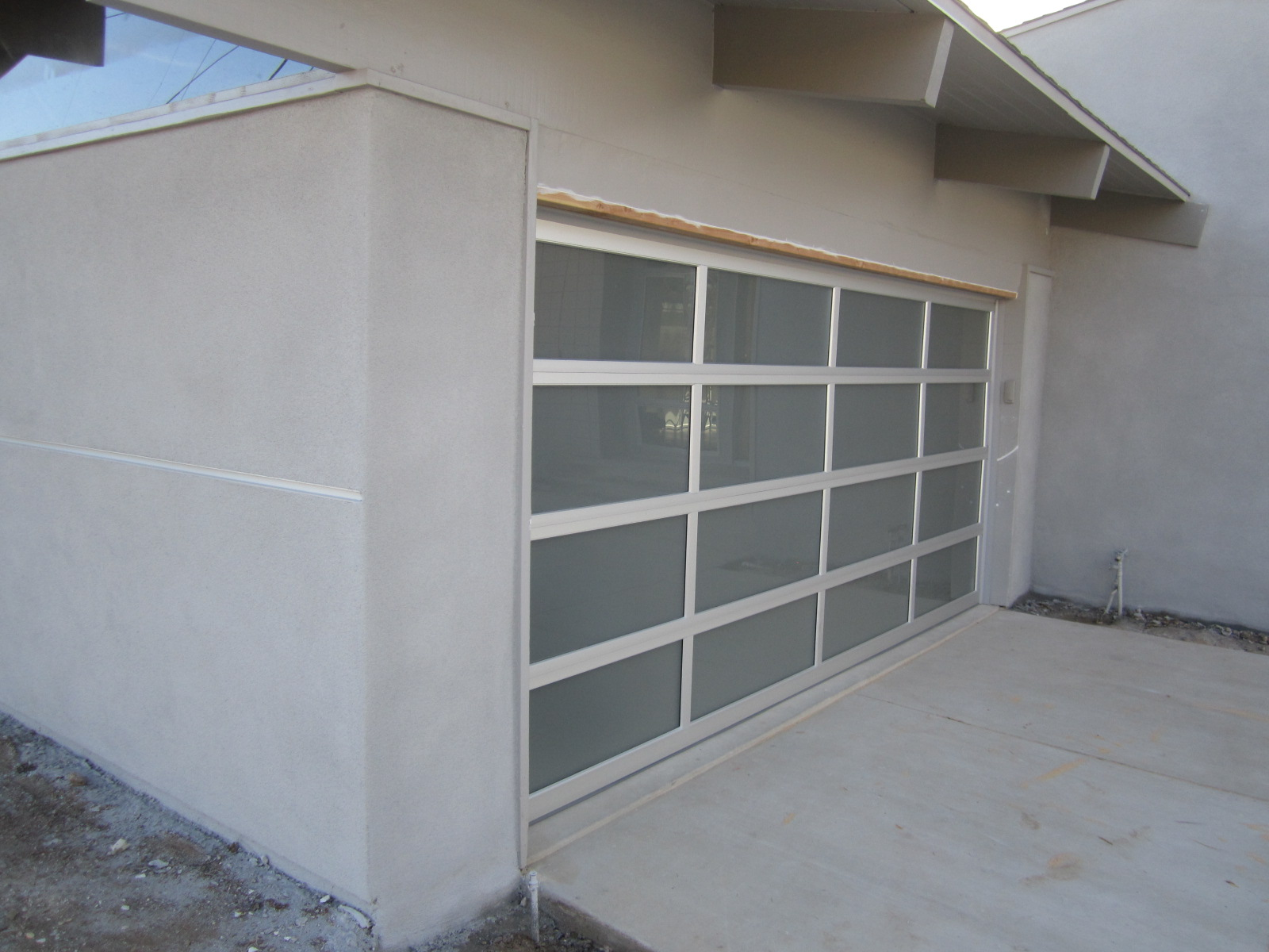 modern contemporary custom wood garage doors with high security glass