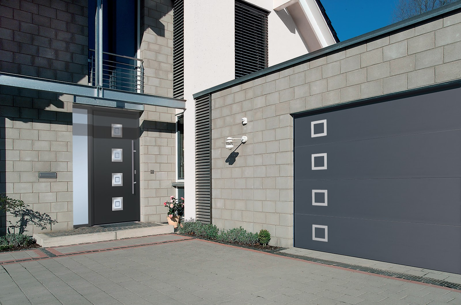 1060 #0D71AE Modern And Contemporary Garage Doors Designs save image Stylish Garage Doors 37871600