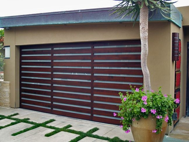 : wood roll up garage doors ideas with separated from house garage