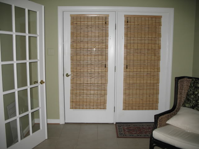 : Bamboo Blinds For Patio Doors cool patio windows treatment ideas