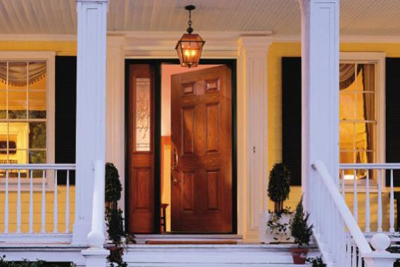 : Double Entry Doors Fiberglass Appealing Iron Entry Doors