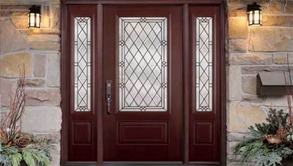 : Fiberglass Entry Doors With Glass Breathtaking Masonite Entry Doors