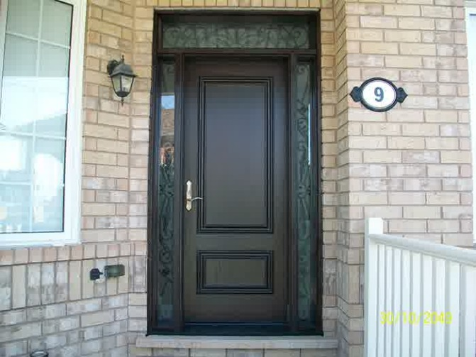 : Fiberglass Exterior Entry Doors Inspiring  Entry Doors With Glass