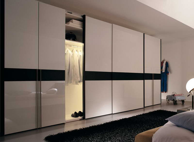: Glass Sliding Closet Doors Terrific Bedroom Ideas Black Furniture