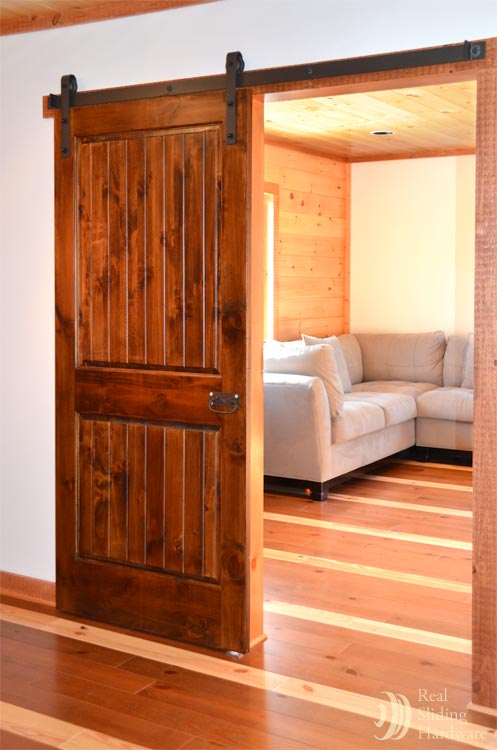 : Interior Sliding Barn Wood Door Hardware Track Set