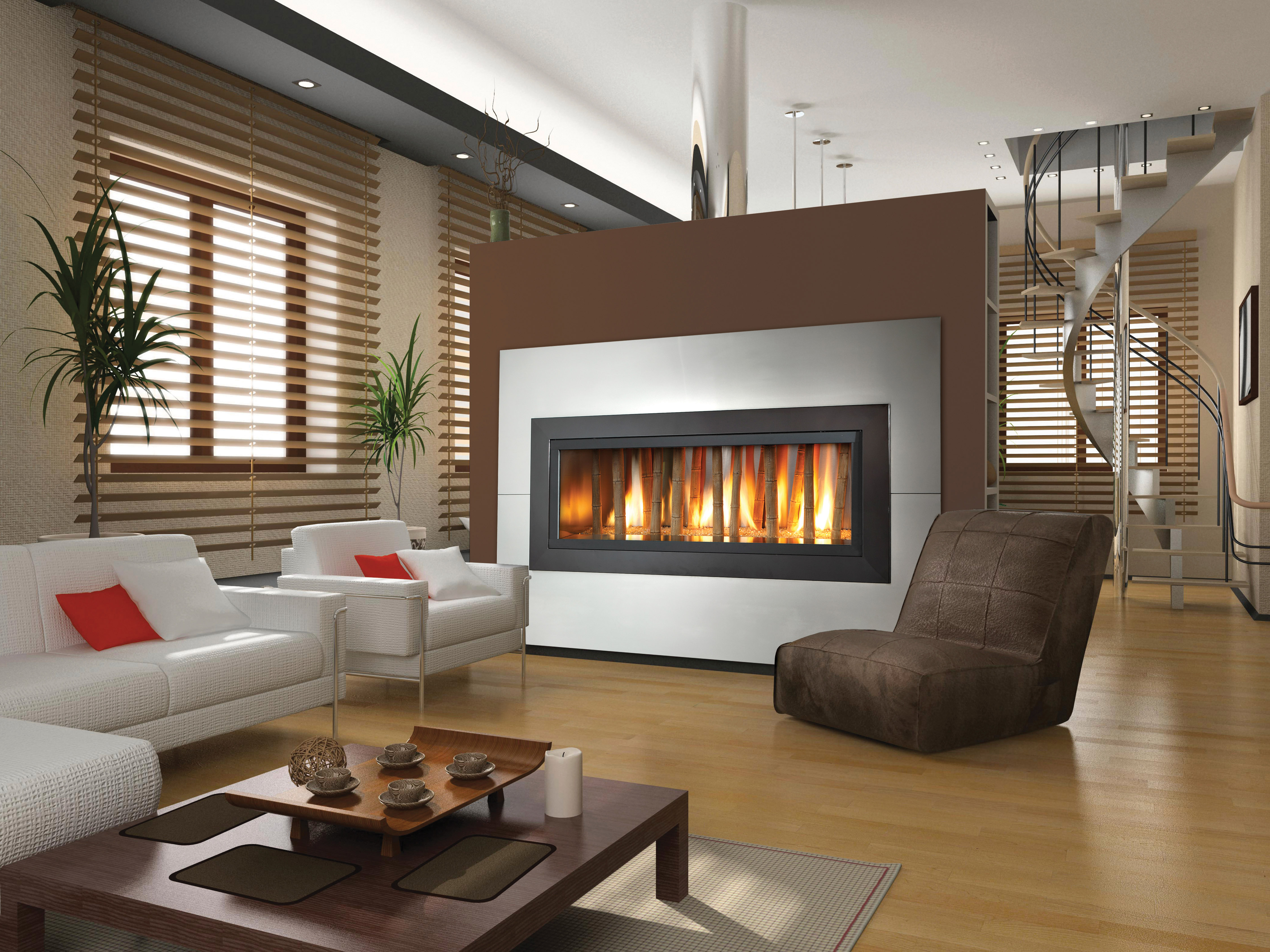 : Modern Fireplace Glass Door For Contemporary House Design