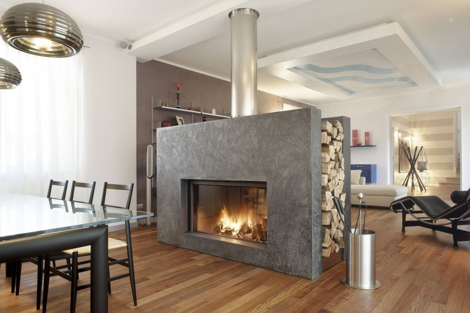 21 Modern Fireplace Glass Doors Design To Beautify Your Home