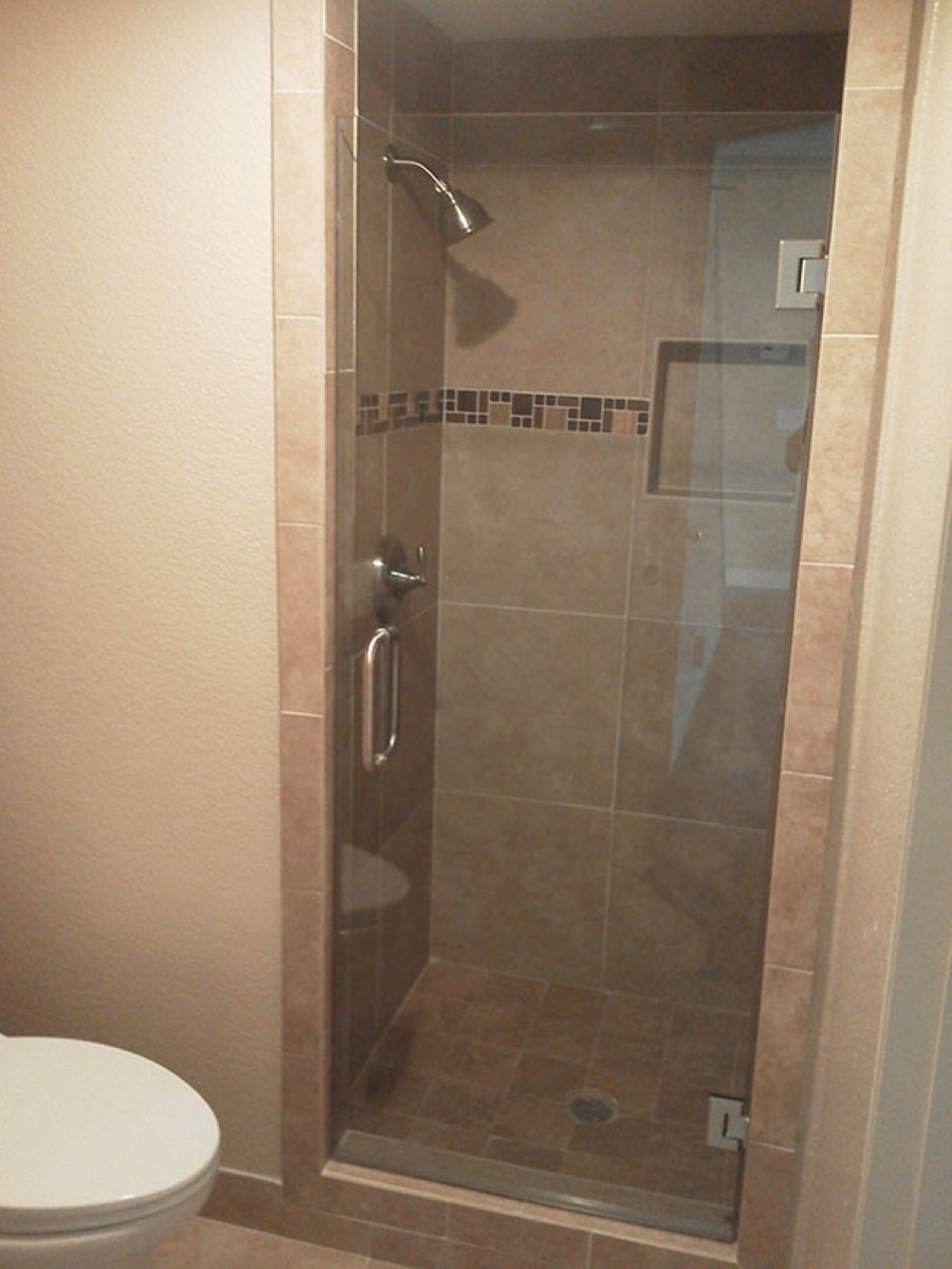 : frosted glass shower doors
